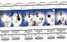 2011 NEW YORK YANKEES SEASON TICKET STUB SET OF 12 JETER RIVERA RODRIGUEZ CANO