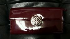 NWT Coach Alexandra Patent Leather Slim Wallet in Merlot Free Shipping!