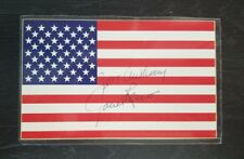 Attorney General Janet Reno Hand Signed 3x5 USA Flag Card Todd Mueller COA