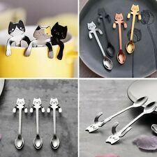 Cat Stainless Steel Teaspoons That Sweeten Your Coffee and Day Silver Colour 1