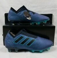 Adidas Nemeziz 17+ 360 Agility FG Soccer Cleats Men's Sz 6.5 Blue Thunder BB6073