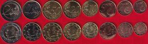 Belgium euro full set (8 coins): 1 cent - 2 euro 2011 UNC