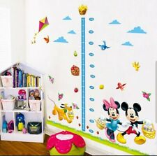Large Disney Mickey Mouse Height Chart Wall Growth Sticker Childrens Boy Girl UK