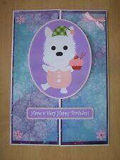 Handmade Westie Dog Birthday Card Puppy Greetings Happy West Highland Terrier