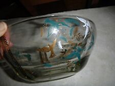 "Signed George Briard Paradise Dove Bowl 10"" Diameter mid century modern"