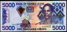 Sierra Leone 5000 Leones 2003 Prefix W P 27b Low S/N Uncirculated