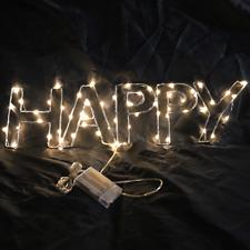 "22"" x 6"" Happy Glow LED Sign Light Bar Decor Wall Hanging Gift Neon Alternative"