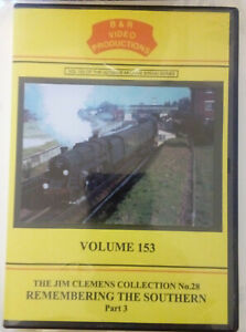 B & R 153 DVD Remembering The Southern Part 3 Train Railway