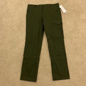 Calvin Klein Jeans Men's Cargo Pants Slim Straight Deep Moss Size 34 x 32 Green