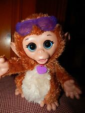 """FurReal Friends Monkey Baby Cuddles  My Giggly Interactive 8"""" Pet Chimp Hasbro"""