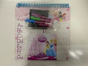 Disney Princess Dry Erase Activity Board 6 Pages of Learning 16502UA - Brand New
