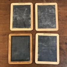 "Lot of 4 Wood Framed Mini Chalkboards 7.5"" X 9.5"" (HD9)"
