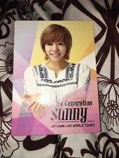 SNSD GG Sunny Smtown Live World tour official Photocard card Kpop K-pop