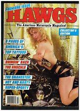 HAWGS OCTOBER 1986 #1 PREMIER ISSUE CONQUISTADORS MC BIKE CLUBS CUSTOM CHOPPERS