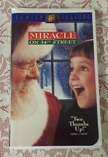 VHS -  MIRACLE ON 34TH STREET - 20TH CENTURY FOX FAMILY FEATURE PG