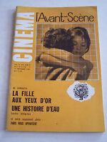 REVUE L ' AVANT - SCENE CINEMA N° 7 . LA FILLE AUX YEUX D ' OR . MARIE LAFORET .