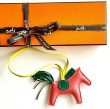 Hermes Rodeo Grigri Horse Charm PM Bag Accessory Pink Azalee Lime Malachite