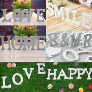 8cm Wooden Letter A-Z Wedding Birthday Party GardenHome Decor Ornament