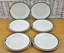 x6 Wedgwood Green Cornucopia Parchment Tea Side Plates Hotelware Restaurant Ware