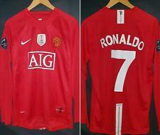 RONALDO 7 Manchester United Champions League 2009 Shirt Size M