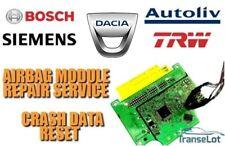DACIA DUSTER 985105129R AIRBAG SRS MODULE CRASH DATA RESET REPAIR SERVICE