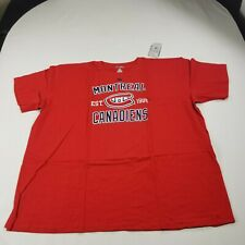 Montreal Canadiens Men's Shirt Red Crew Neck Short Sleeve New NHL