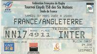 France vEngland 2 Mar 2002 Paris RUGBY TICKET