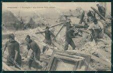 L'Aquila Avezzano Terremoto Bersaglieri cartolina XB3243