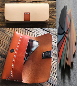 sunglasses bag Eyeglass Cases spectacles glasses cow Leather Customize A777