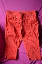 ladies preowned casual 3/4 pants by katies. size 18 colour red