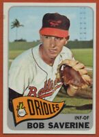 1965 Topps #427 Bob Saverine EX-EXMINT Marked Baltimore Orioles FREE SHIPPING