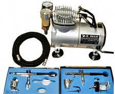 Airbrush Compressor System Air Brush Kit Paint Tank Spray Tattoo Nail Hose Gun