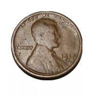 1917-D Denver Mint Copper Lincoln Wheat Cent
