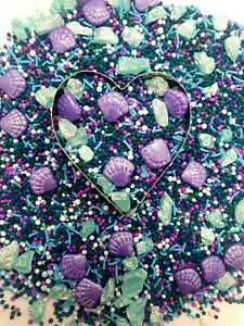 Beyond The Reef Moana 120g Sprinkles Under the sea mermaid cake topper purple