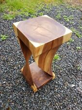 Infinity solid wood cube side table lamp table stool wood coffee table