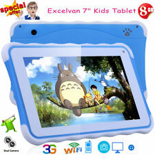 7 INCH HD Tablet PC Kids Child Pad Android 4.4 8GB 3G WIFI BT Dual Cameras GIFT
