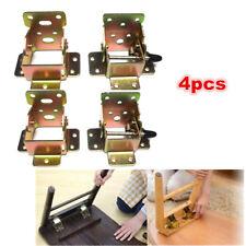 4xZinc Iron Folding Bracket Folding Table Leg Hinges Desk Chair Foot Lock&Unlock