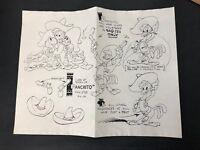 "Walt Disney - ""Panchito"" Three Caballeros Model Sheet Print Estate Sale Find"