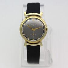 Vintage 14k Yellow Gold 32mm Fancy Lug Gruen 21 Precision Veri-Thin Wristwatch