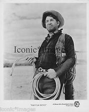 ORIGINAL 1951 PHOTO-CHILL WILLS-CATTLE DRIVE-WESTERN-ACTION-LASSO-COWBOY-ROPE