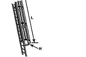 Plastruct Styrene CLS-8 (90973) 380mm x O Scale = 1:48 Caged Ladder Set T48 Post