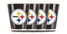 Pittsburgh Steelers Shot Glass Set Acrylic Set of 4 Black