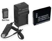 Battery + Charger for Panasonic SDR-S15P SDR-S15PC SDR-S15 DMC-FX30T DMC-FX500