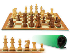 """Unique Staunton Wooden Chess Set Pieces 2-3/4"""" + Chess Board 13"""" -House of Chess"""
