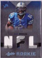 2012 Absolute NFL Rookie PRIME Materials 4 Color  RYAN BROYLES #231 Lions RC /50