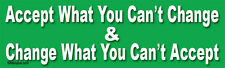 Accept What You Can't Change & Change... - Liberal Laptop/Window/Bumper Sticker