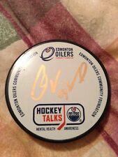 1 of 1 GOLD VandeVelde #54 Autograph Oiler Puck Mental Health Hockey Talks