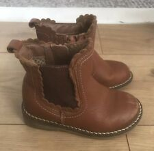 Infant Girls Next Leather Chelsea Ankle Boots Size 6