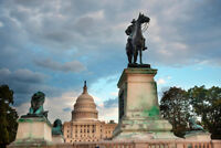 Ulysses Grant Equestrian Statue and US Capitol Photo Art Print Poster 18x12