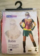 Womens Adult Sexy Batman ROBIN Dress Costume Outfit xs extra small